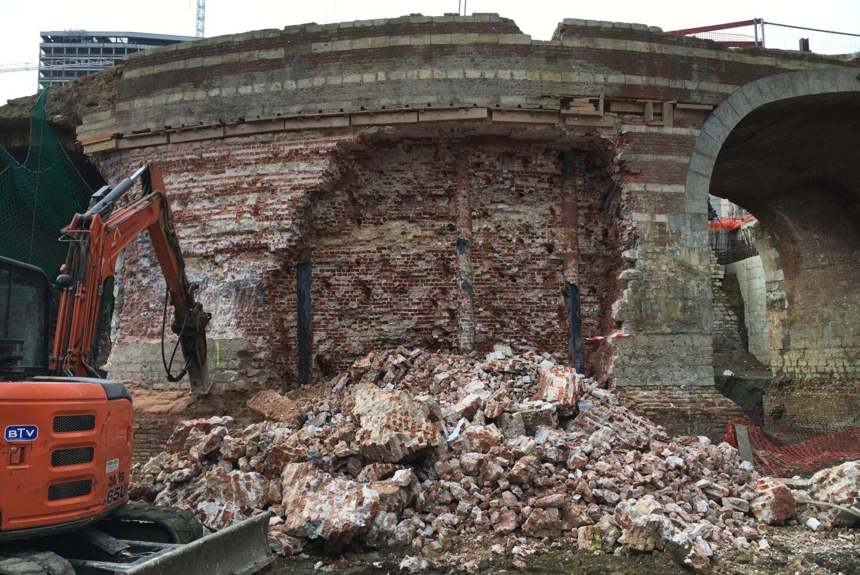 5 Removal Of Masonry Where Tunnel Crosses Historical Bridge