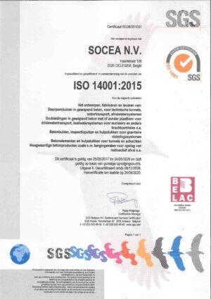 Iso 14001 2015 Certificaat Socea Nl 1