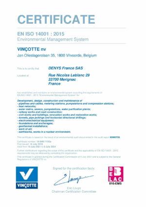Iso14001 Denys France Sas Eng 1