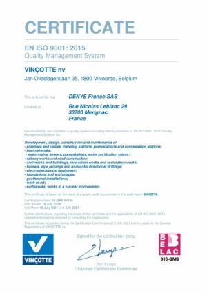 Iso9001 Cert Denys France Sas Eng 1