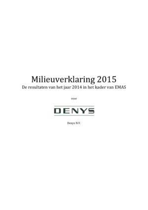 Emas Milieuverklaring 2015 Denys Nv1