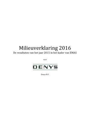 Emas Milieuverklaring 2016 Denys Nv1