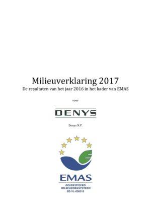 Emas Milieuverklaring 2017 Denys Nv